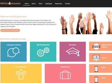 Homepage of moocs4inclusion.org