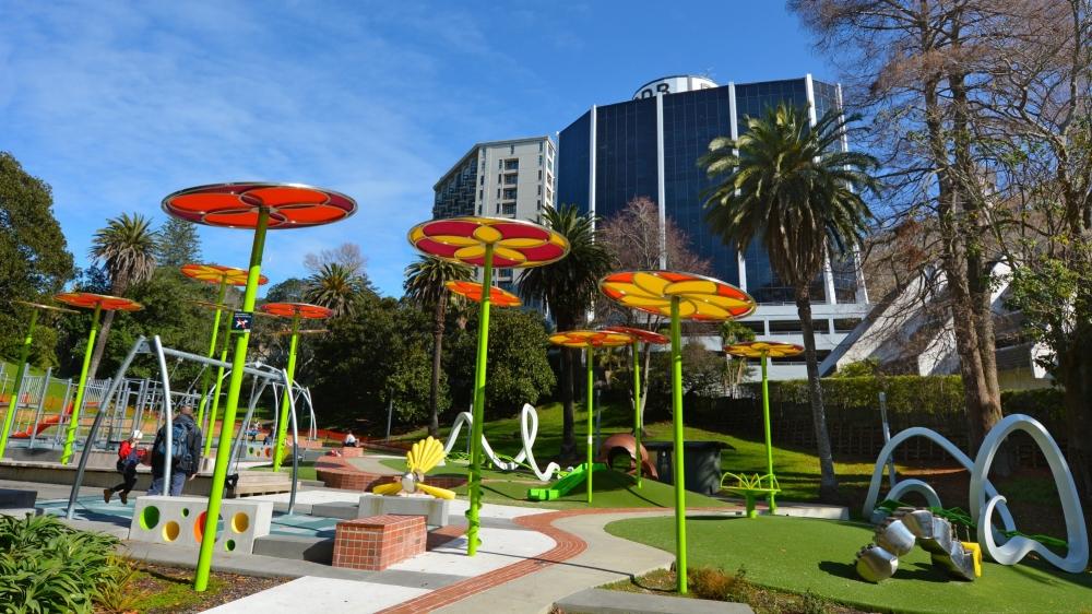 Myers Park Playground in Auckland, New Zealand, photo by Rafael Ben-Ari/Chameleons Eye/Adobe Stock