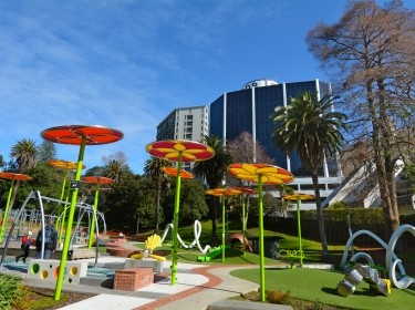 Myers Park Playground in Auckland, New Zealand, photo by Rafael Ben-Ari/Chameleons Eye/Adobe Stock