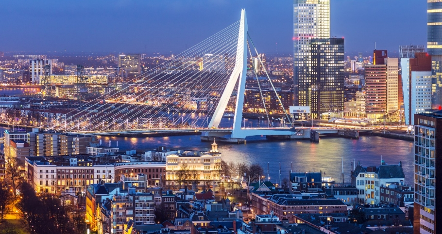 Rotterdam skyline, photo by mihaiulia/Getty Images