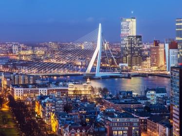 Rotterdam skyline, photo by mihaiulia/Getty Images