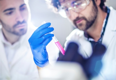 Scientists working in a lab