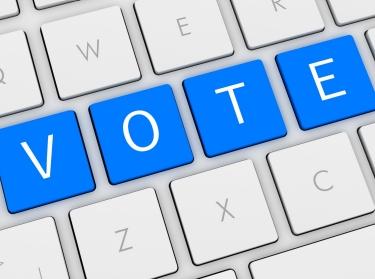 Computer keyboard with VOTE keys