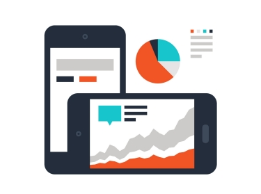 Abstract vector illustration of dashboard flat design concept