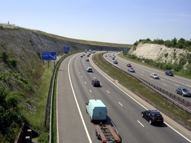 The M3 Motorway cutting at Twyford Down