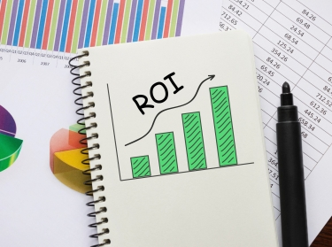 Charts showing ROI
