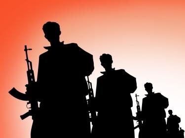 terrorists silhouette