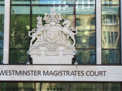 Entry and crest of the Westminster Magistrates' Court