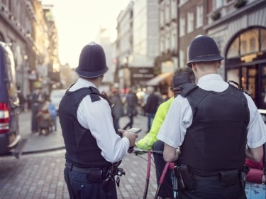 British police constable on London streets