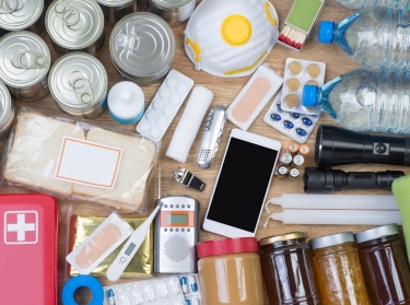 Objects useful in emergency situations such as natural disasters, photo by photka/Adobe Stock