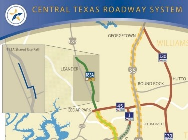 Central Texas Roadway System map