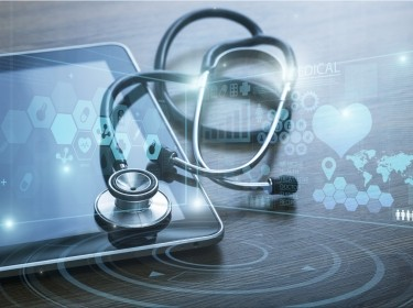 Stethoscope on tablet computer with digital images, photo by BillionPhotos.com/Adobe Stock