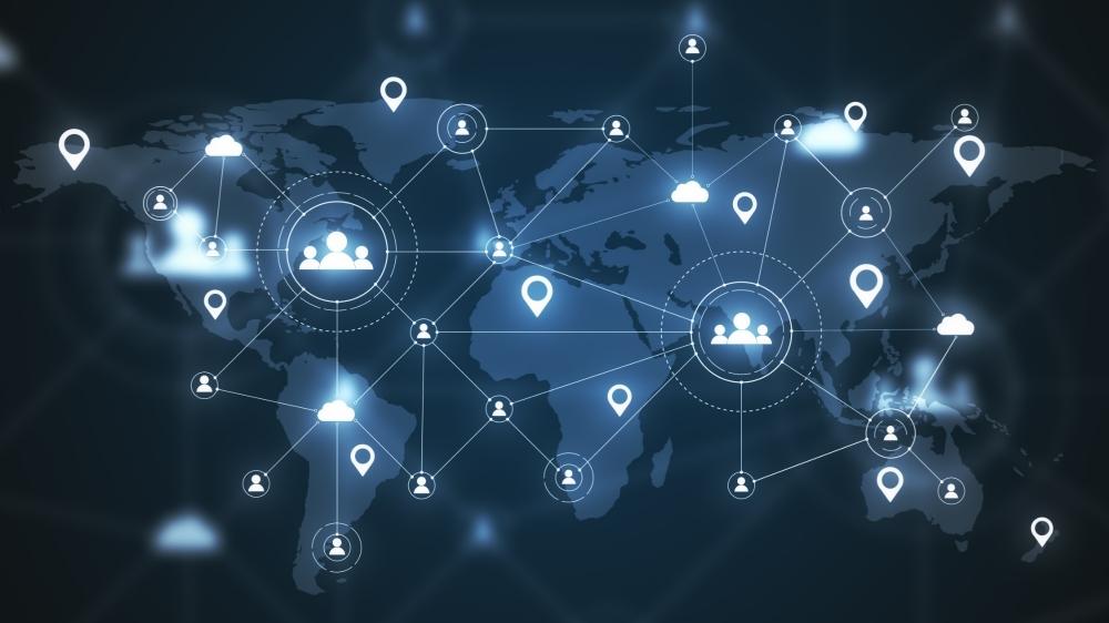Social media network and remote work illustration, photo by peshkov/Adobe Stock