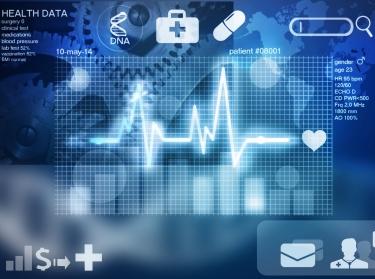Health data displaying cardiac conduction system