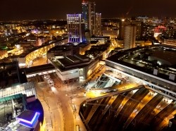 Birmingham City Centre at night
