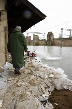 Flood relief worker in Montenegro