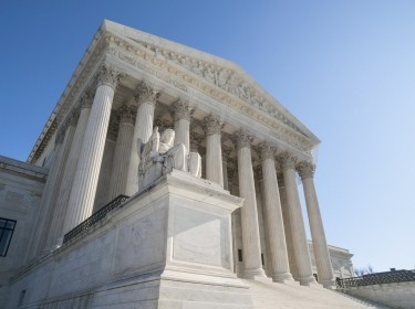 Facade of the United States Supreme Court building
