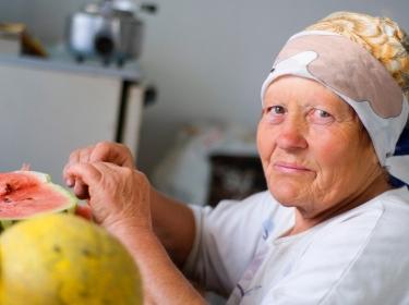 Old european woman