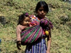 Guatemalan girl and baby