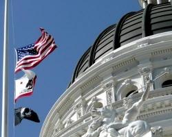 State Capitol building dome in Sacramento, California