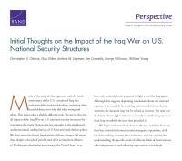 أفكار أولية بشأن تأثير حرب العراق على أنظمة الأمن القومي للولايات المتحدة