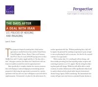 الأيام التي تلي الاتفاق مع إيران