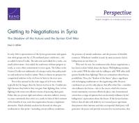 الوصول إلى المفاوضات في سوريا