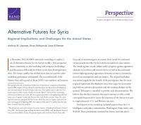 سيناريوهاتٌ مستقبليةٌ بديلةٌ لسوريا: التداعيات والتحديات الإقليمية بالنسبة للولايات المتحدة