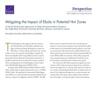 التخفيف من تأثير وباء الإيبولا في المناطق الحساسة المُحتملة