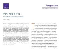 الدور الذي تضطلع به إيران في العراق
