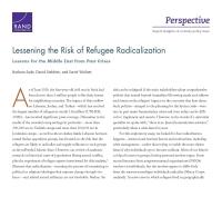 الحد من مخاطر التطرف بين اللاجئين