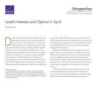 مصالح إسرائيل وخياراتها في سوريا