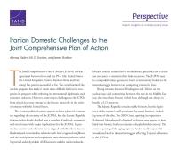 التحديات الإيرانية الداخلية أمام خطة العمل المشتركة الشاملة