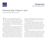 منع انهيار الدولة في سوريا