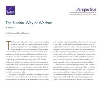 الطريقة الروسيّة في الحرب: دراسة تمهيديّة
