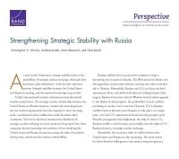 تعزيز الاستقرار الاستراتيجي مع روسيا