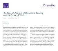 مخاطر الذكاء الاصطناعي على الأمن ومستقبل العمل