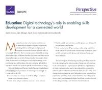 التربية والتعليم: دور التكنولوجيا الرقمية في التمكين من تطوير المهارات لعالمٍ مترابط