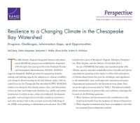 المرونة أمام مناخٍ مُتغيِّرٍ في مستجمع مياه خليج تشيزبيك (Chesapeake Bay Watershed): التقدُّم، والتحدّيات، والفجوات المعلوماتية، والفرص