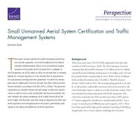 إصدار الشهادات للمنظومات الجوّيّة الصغيرة بدون طيّار وأنظمة إدارة حركة مرورها