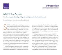 استخبارات الإشارات (SIGINT) للجميع: التوفر المتنامي لاستخبارات الإشارات في المجال العام