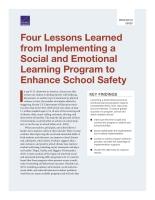 أربعة دروس مستفادة من تنفيذ برنامج تعلم اجتماعي وعاطفي لتعزيز السلامة المدرسية