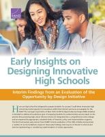 رؤى أولية بشأن تصميم مدارس ثانوية مبتكرة: النتائج المرحلية المُستخلصة من تقييم مبادرة الفرصة التي يكفلها التصميم