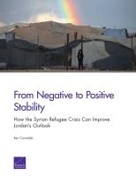 من الاستقرار السلبي إلى الإيجابي: كيف يمكن لأزمة اللاجئين السوريين أن تحسِّن من آفاق مستقبل الأردن