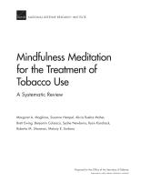 تَأَمُّل اليقظة الذهنية باعتباره علاجاً لتعاطي التبغ: مراجعة منهجيّة