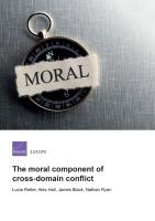 المكوّن الأخلاقي للنزاع الذي يغطي مجالات متداخلة