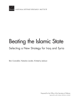 التغلب على تنظيم الدولة الإسلامية: اختيار استراتيجية جديدة للعراق وسوريا