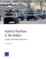 الحرب الهجينة في منطقة البلطيق: التهديدات والاستجابات المُحتمَلة