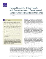 قدرة جيوش بريطانيا وفرنسا وألمانيا على تشكيل ألوية مُدرَّعة في دول البلطيق والإبقاء عليها