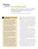 نظام قضائي مستعد للتطورات المستقبلية: إعداد أجندة بحثية لمعالجة آثار التغيرات التقنية على حماية الحقوق الدستورية